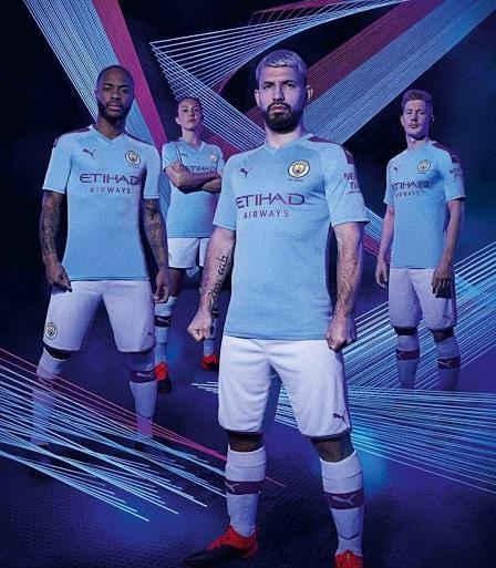 Manchester City 2020 nouveau maillot domicile football