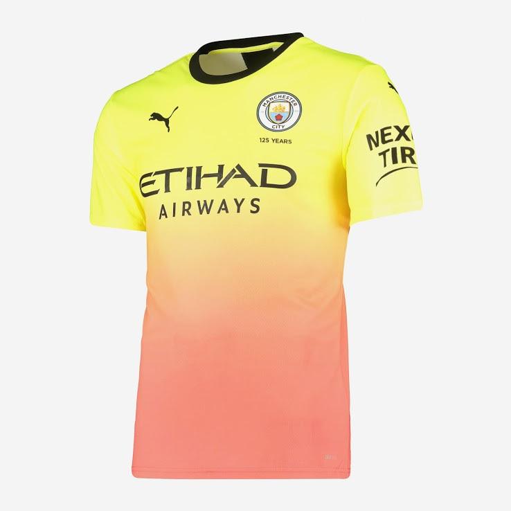 Manchester City 2020 nouveau maillot third foot