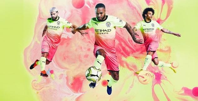 Manchester City 2020 nouveau troisieme maillot third dégradé
