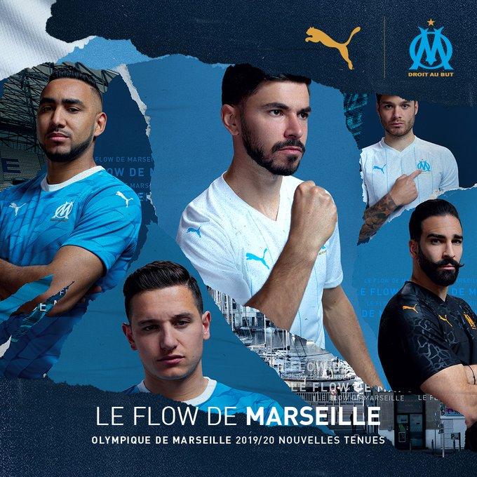 OM 2020 les nouveaux maillots de football Puma Marseille