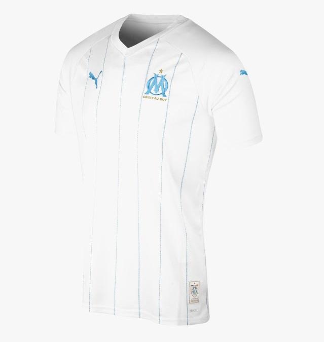 OM 2020 maillot de foot domicile Marseille 19 20