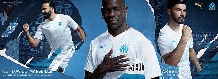 OM 2020 maillot de football domicile Olympique de Marseille