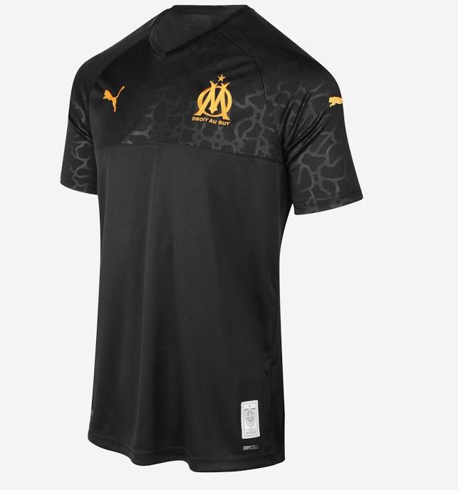 OM 2020 maillot third noir officiel Marseille