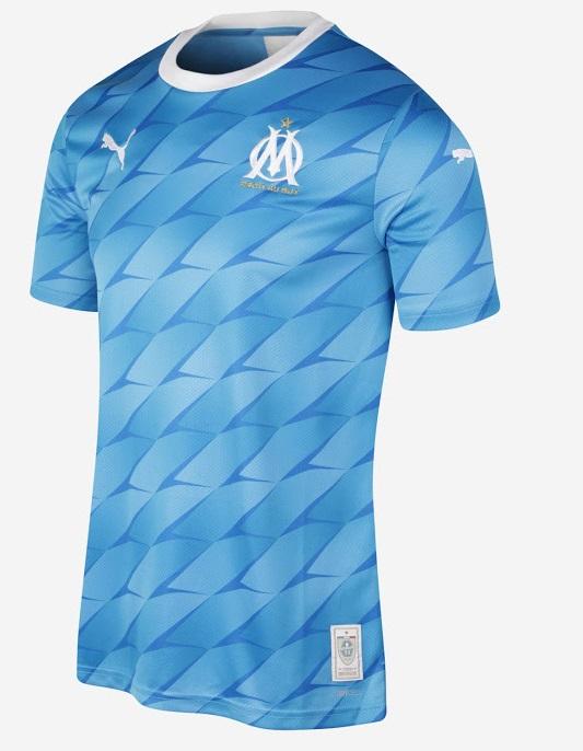 OM 2020 nouveau maillot de foot exterieur Puma dos Marseille