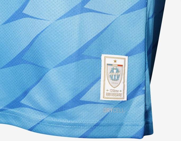 OM 2020 nouveau maillot exterieur detail patch