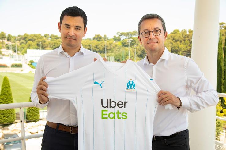 OM 2020 nouveaux maillots foot Uber Eats