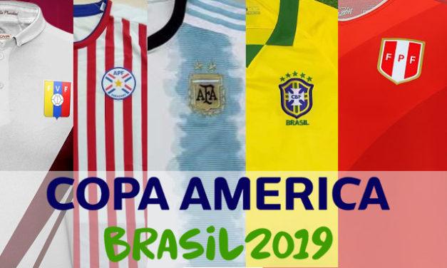 Tous les maillots de foot de la Copa America 2019