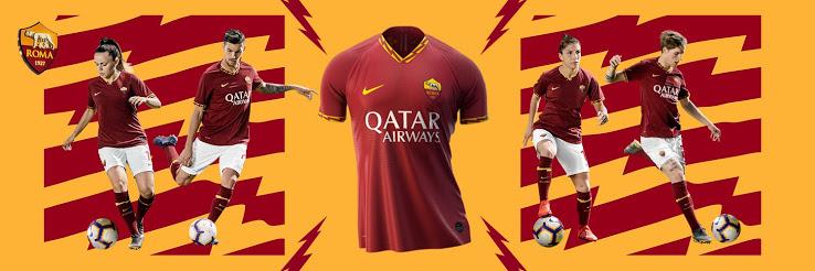 AS Rome 2020 nouveau maillot domicile officiel
