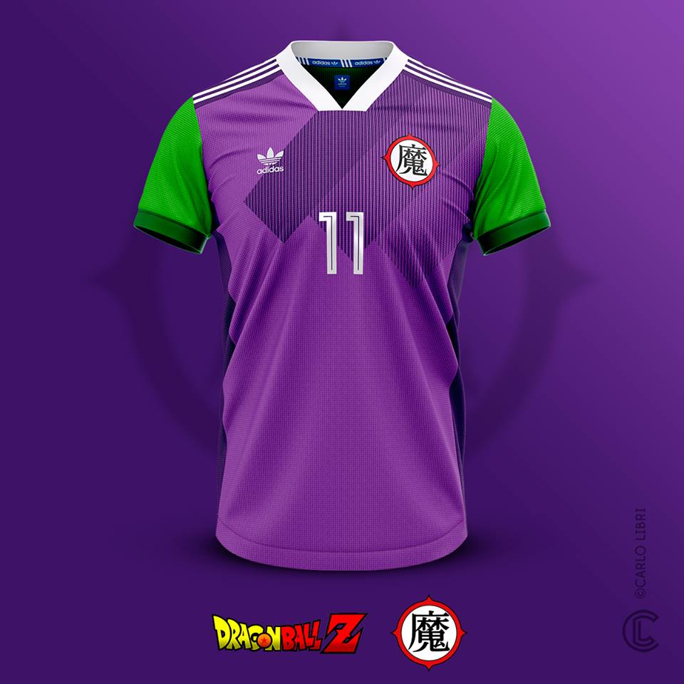 Piccolo maillot de football Satan Petit Coeur Dragon Ball Z