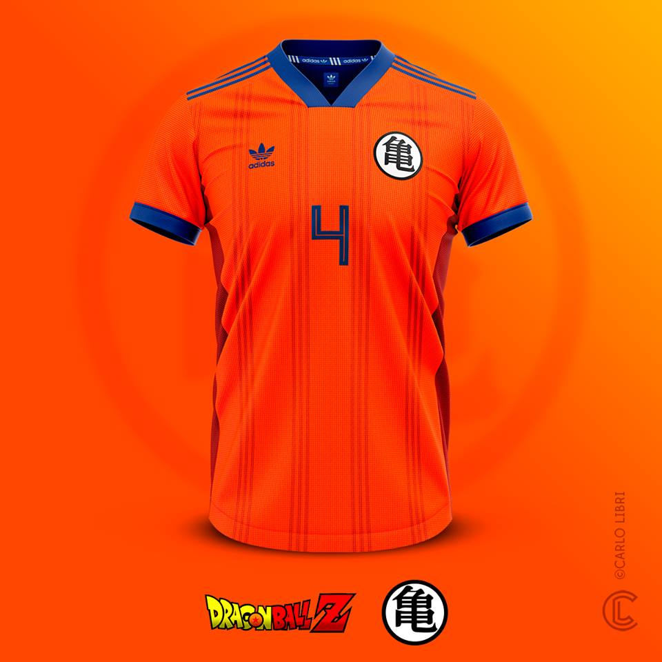 Son Goku maillot de foot Dragon Ball Z