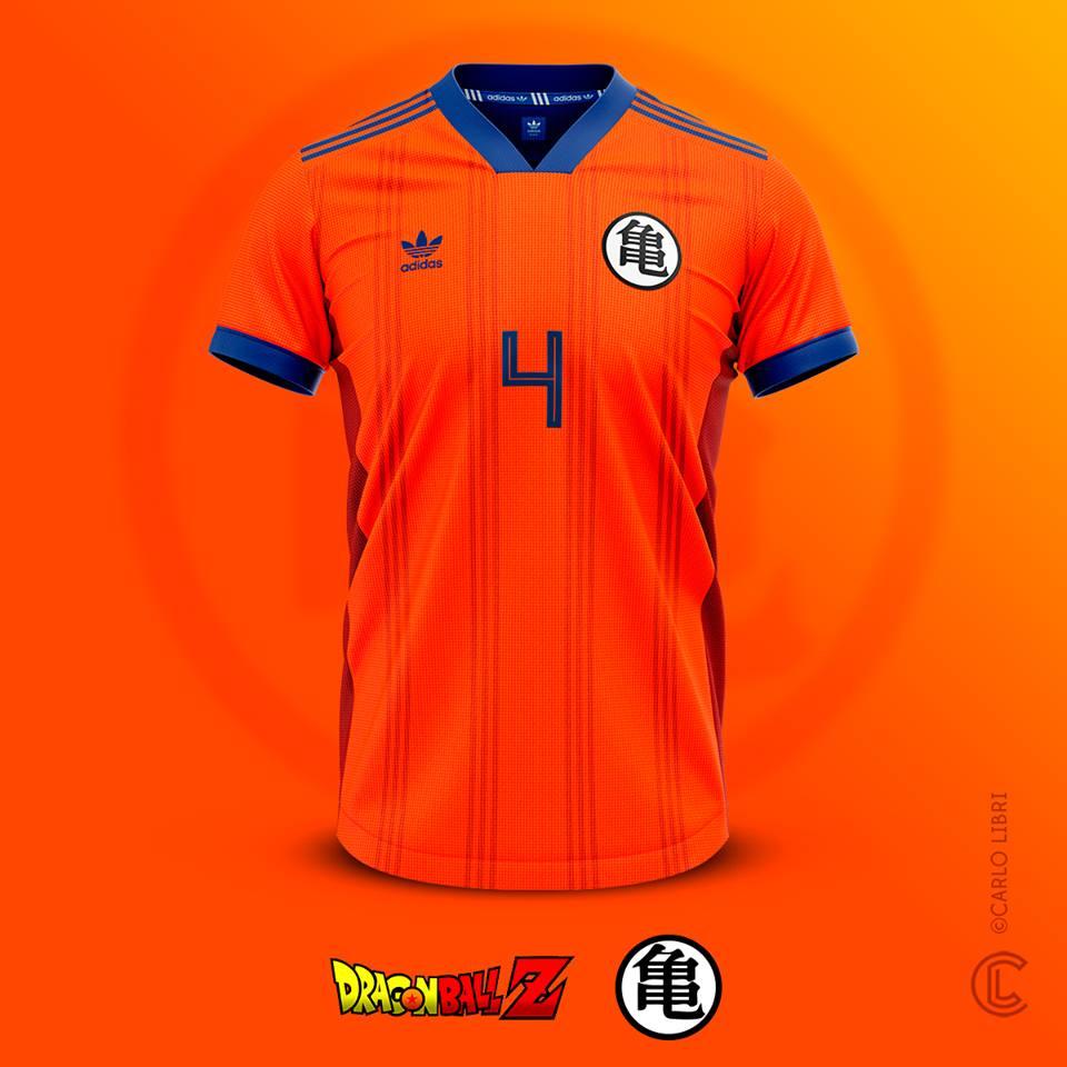 Son Goku maillot de foot Dragon Ball Z
