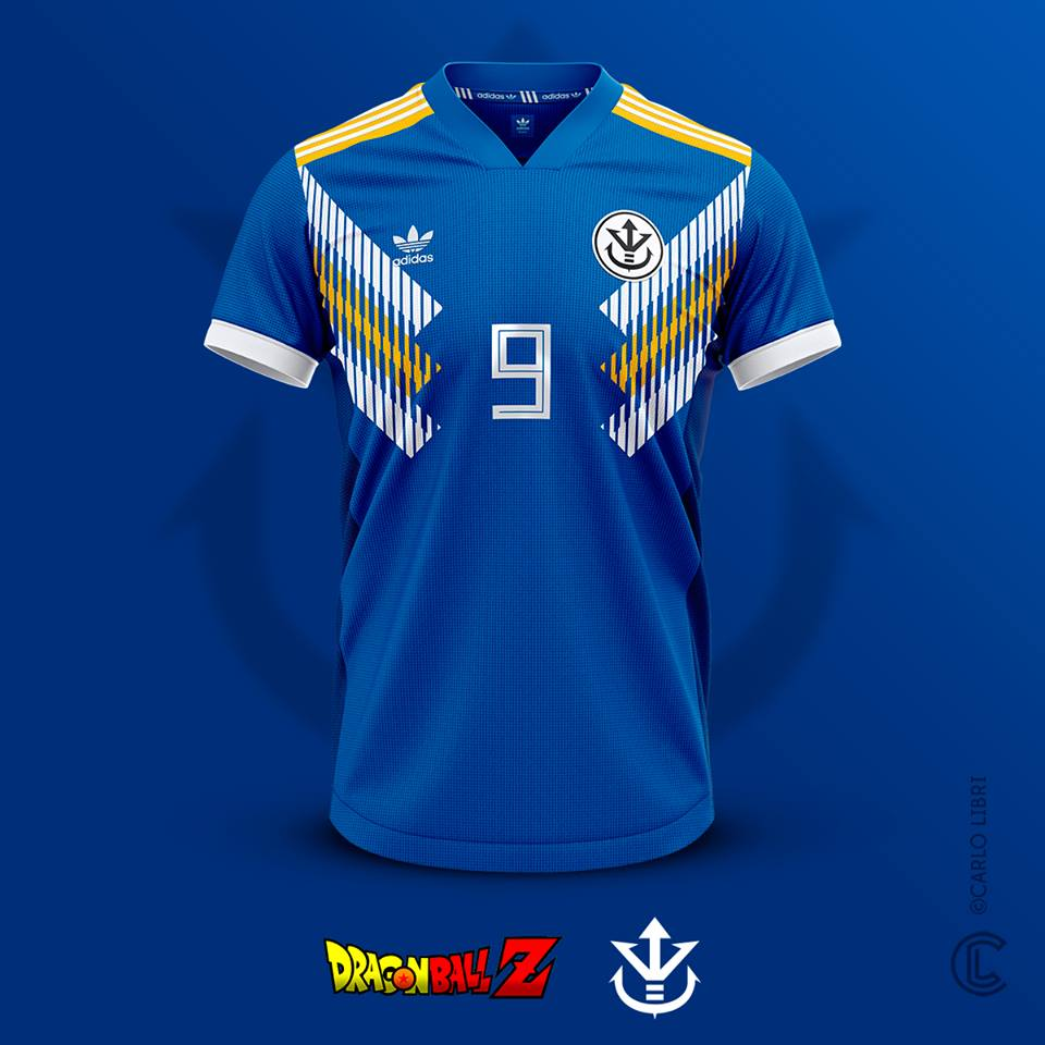 Vegeta maillot de football DBZ