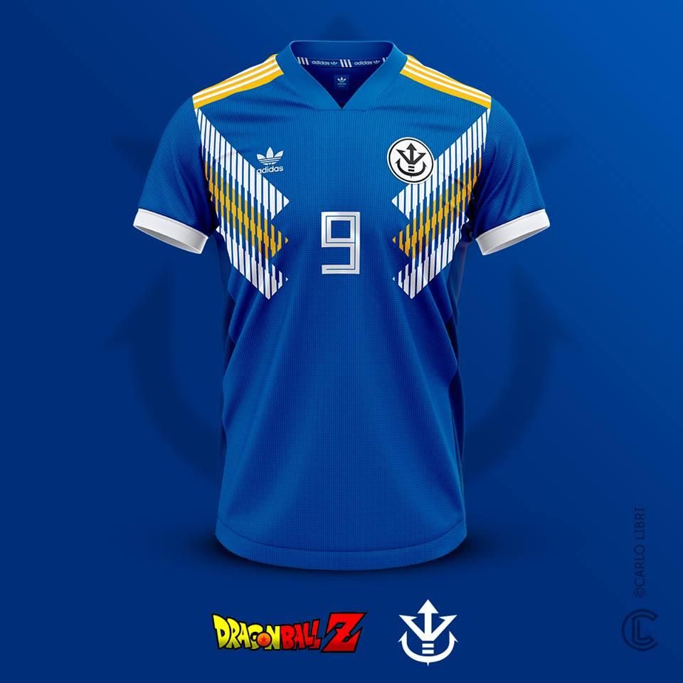 Vegeta maillot de football DBZ
