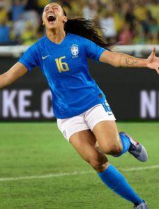 Brésil 2019 maillot extérieur football coupe du monde 2019 féminine