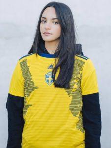 Suède 2019 maillot domicile foot coupe du monde 2019 femme
