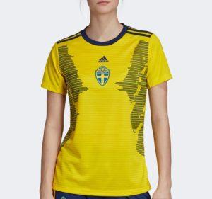 Suède 2019 maillot domicile football coupe du monde 2019 femme