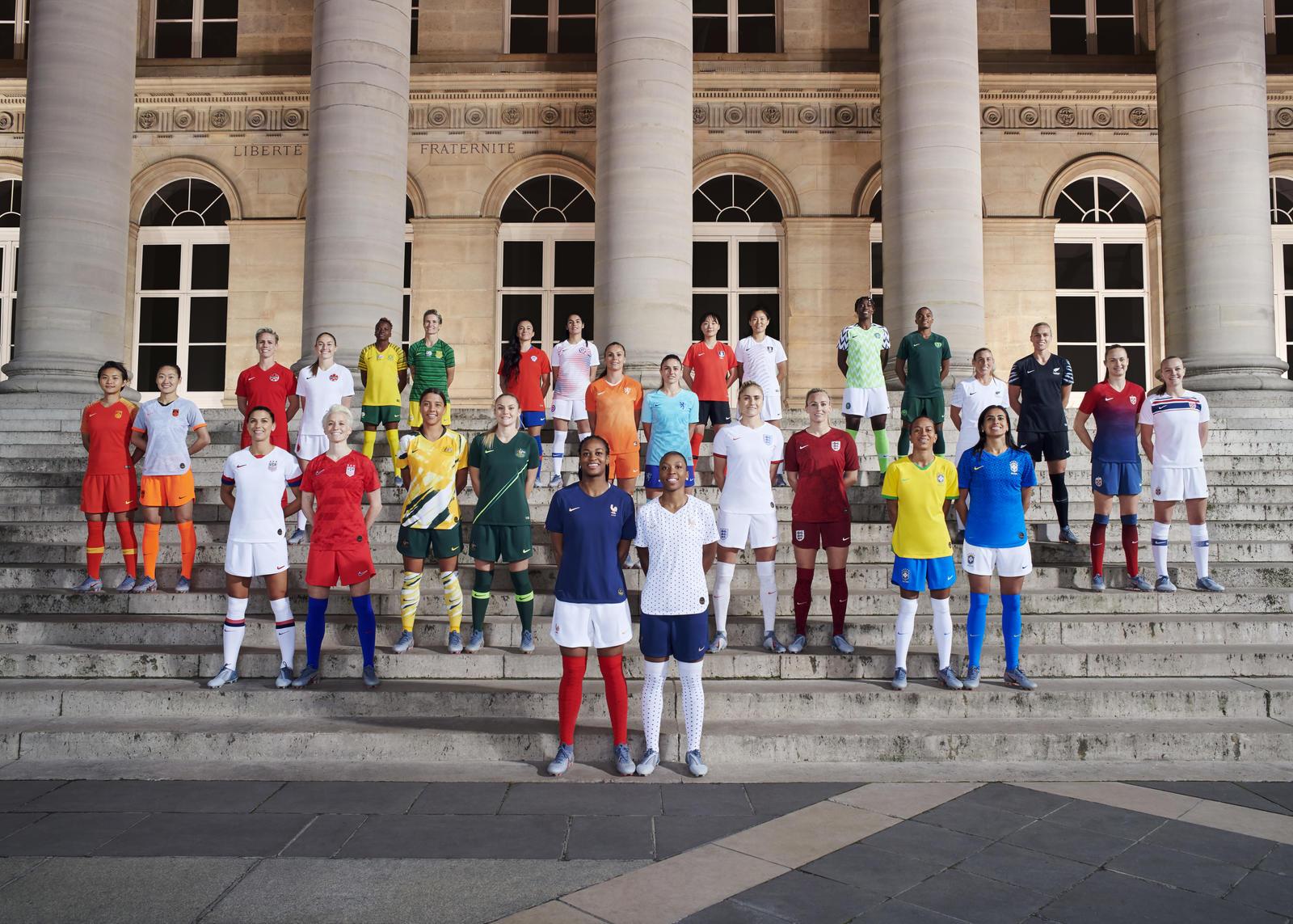 Tous les maillot de foot coupe du monde feminine 2019 football