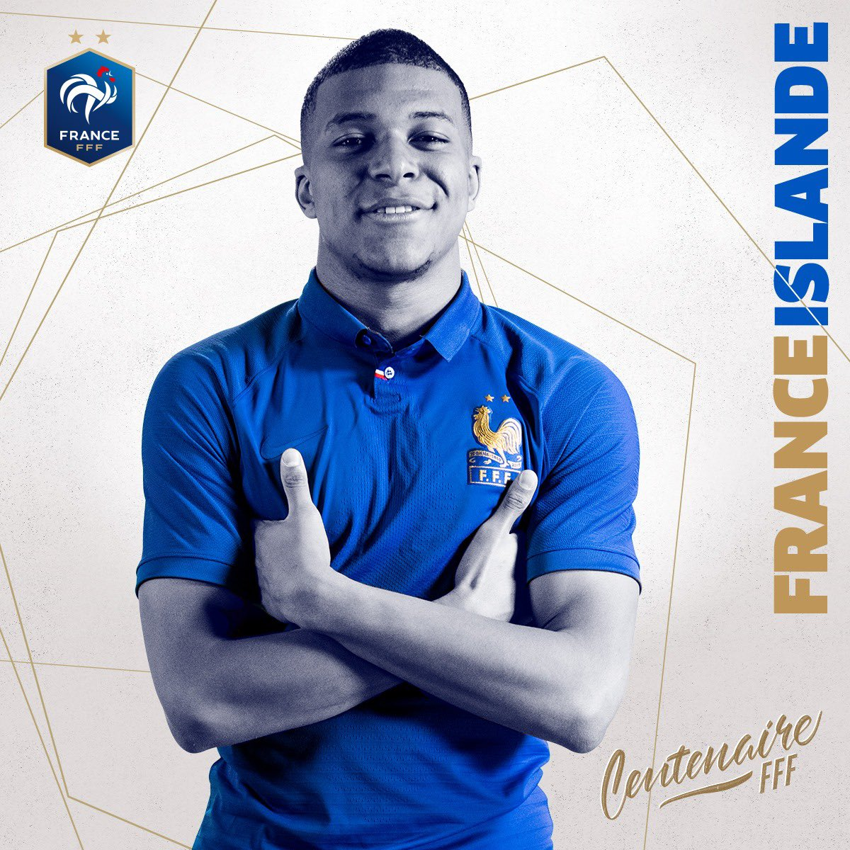 maillot collector 100 ans France MBappe