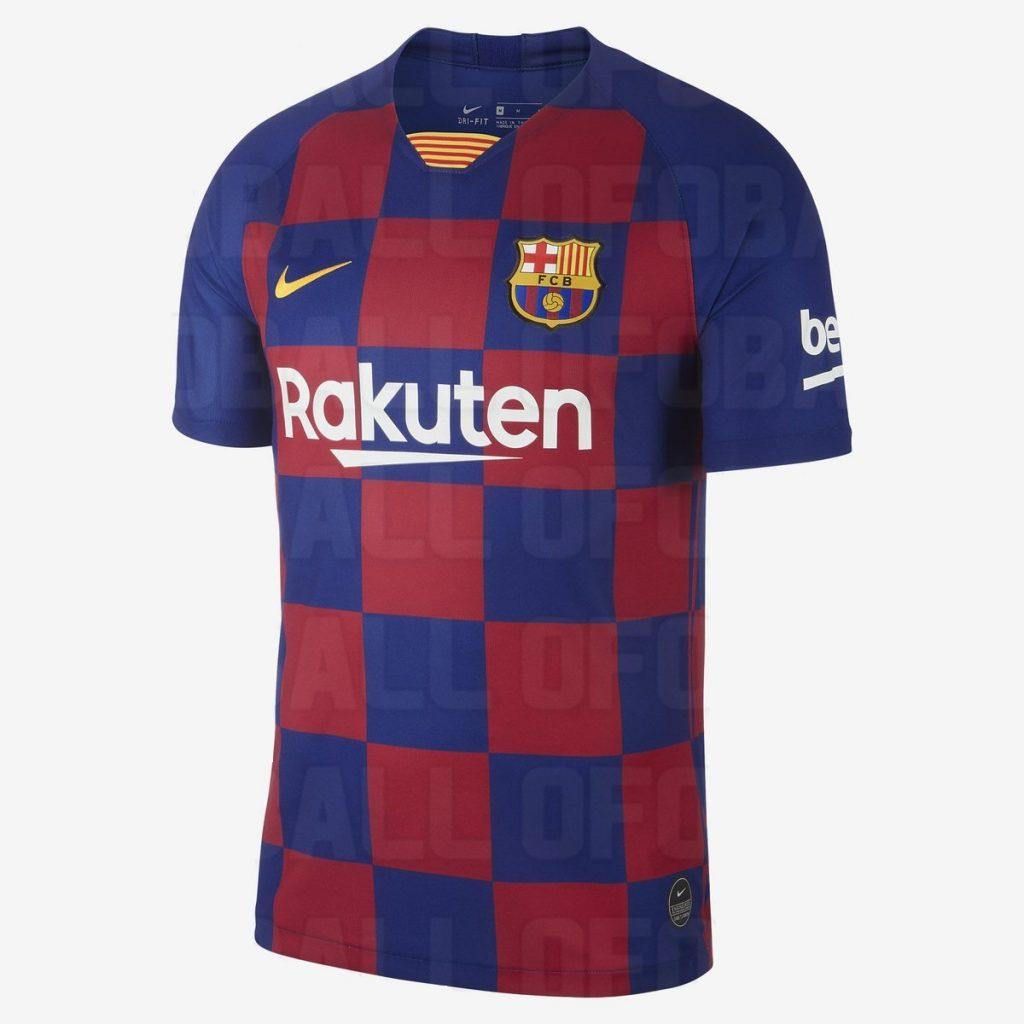Barcelone 2020 maillot domicile foot