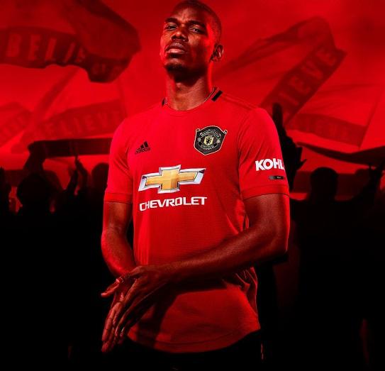 Manchester United 2020 maillot domicile officiel Pogba