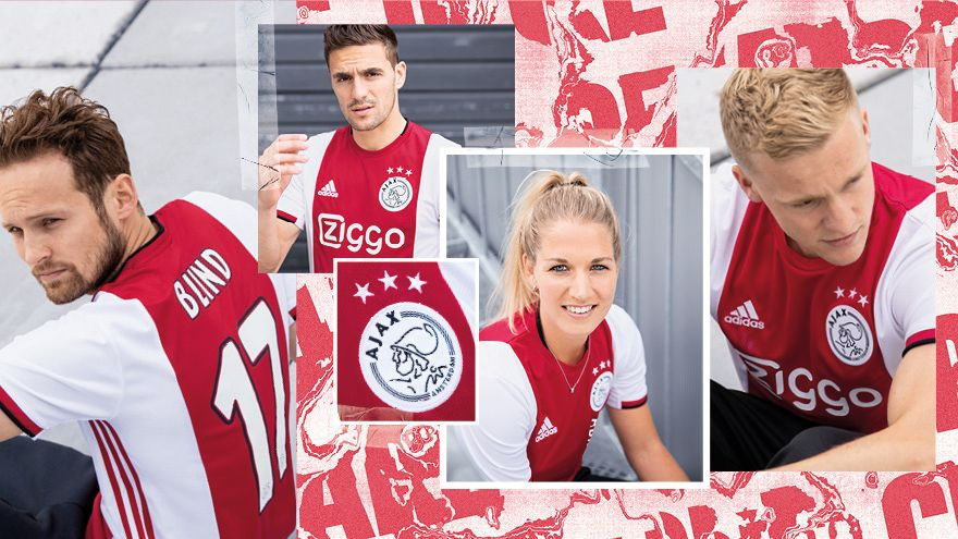 Ajax 2019 2020 maillot domicile officiel