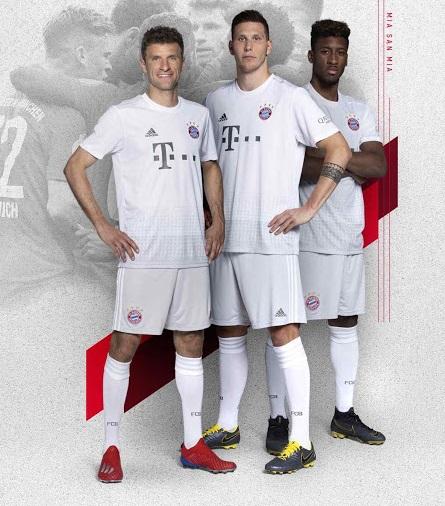 Bayern Munich 2019 2020 nouveau maillot exterieur blanc