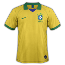 Bresil 2019 maillot domicile Copa Ameria 2019