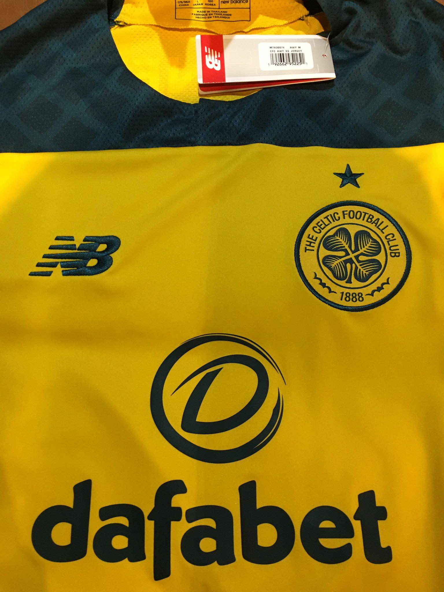 Celtic Glasgow 2019 2020 maillot exterieur jaune New balance