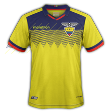 Equateur maillot domicile foot Copa Ameria 2019