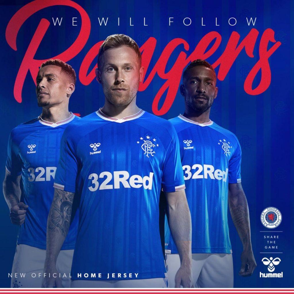 Rangers 2020 maillot domicile foot officiel