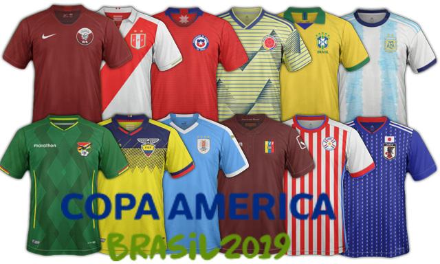 nouveaux maillots de football Copa America 2019