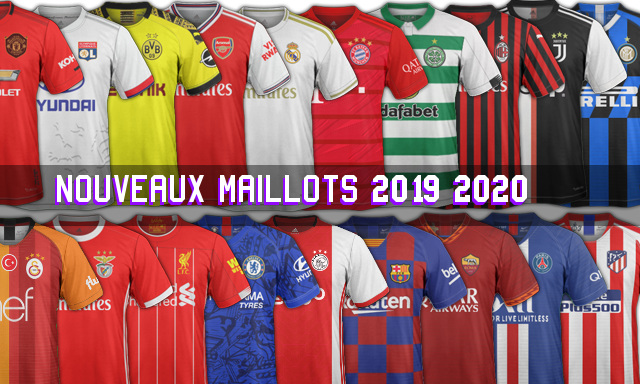 nouveaux maillots de foot 2020