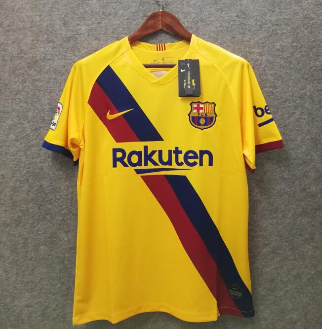 Barcelone 2020 maillot foot exterieur jaune