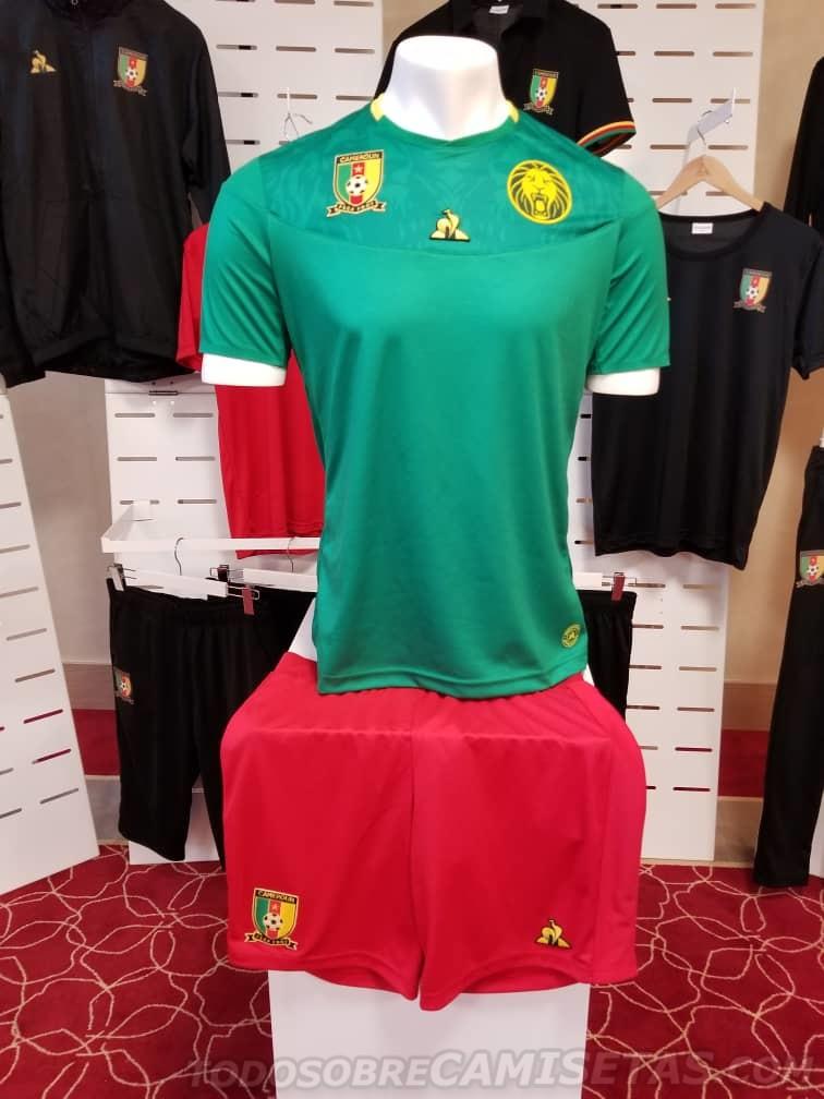 cee3636863 Cameroun 2019 nouveau maillot CAN 2019 Cameroun 2019 maillot domicile CAN  2019 ...