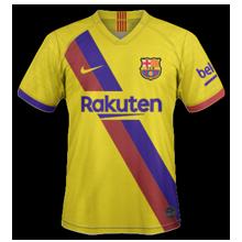 FC Barcelone 2020 nouveau maillto exterieur jaune
