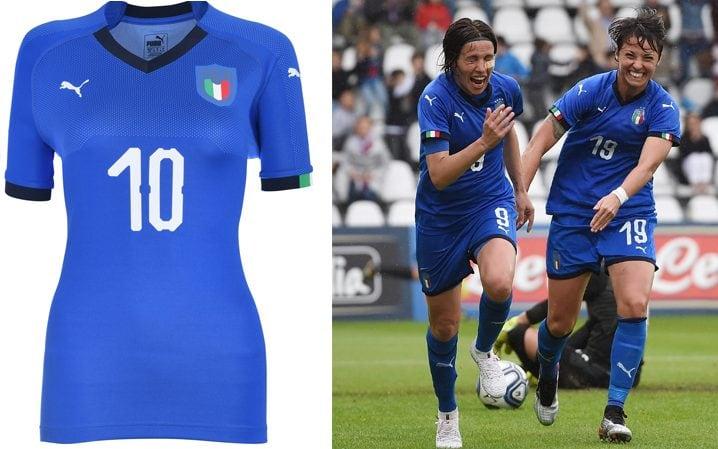Italie maillot domicile coupe du monde féminine 2019
