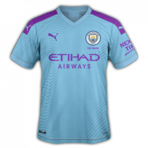 Manchester City 2020 maillot domicile foot 19 20