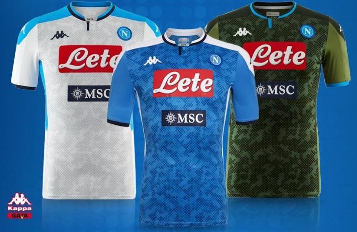 Naples 2020 les nouveaux mailllots de foot Napoli 2019 2020