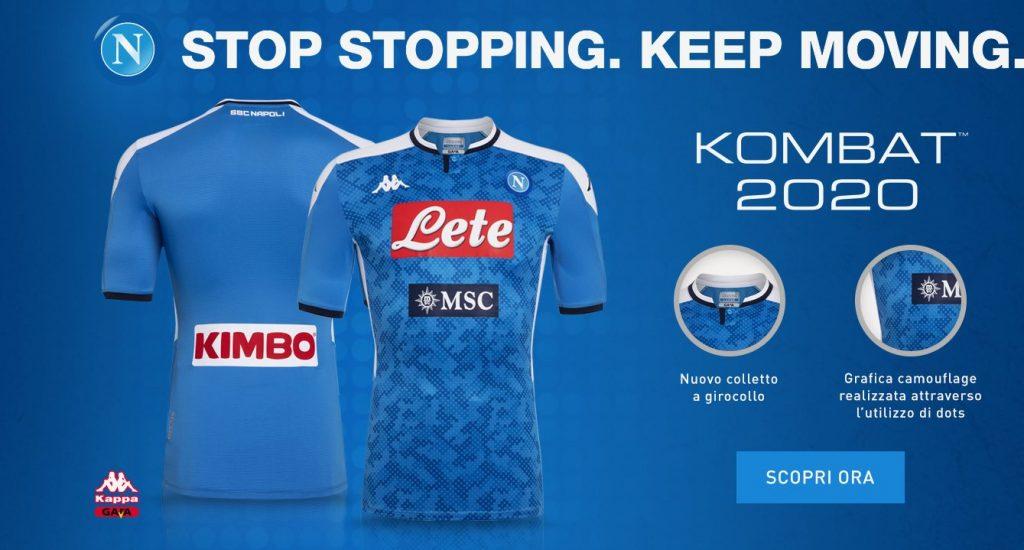 Naples 2020 nouveau maillot domicile
