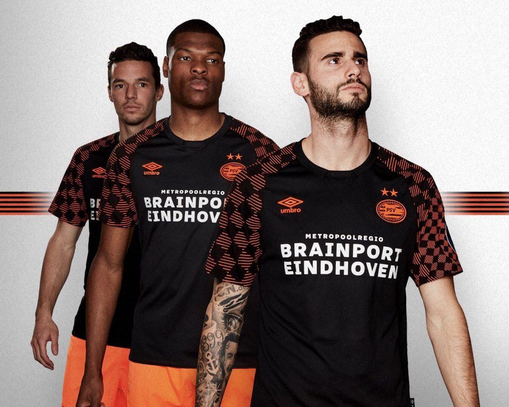 PSV 2019 2020 nouveau maillot exterieur football officiel