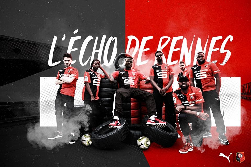 Rennes 2020 maillot de football Puma domicile 19 20