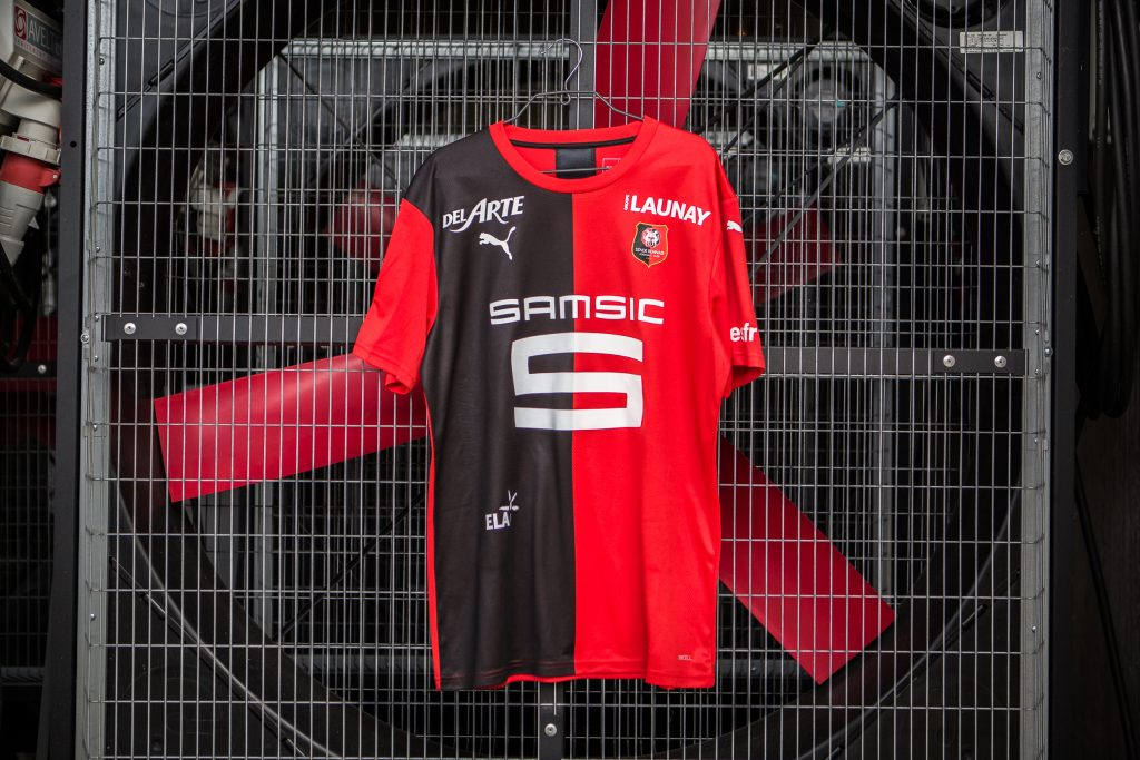 maillot Rennes 2020 domicile foot