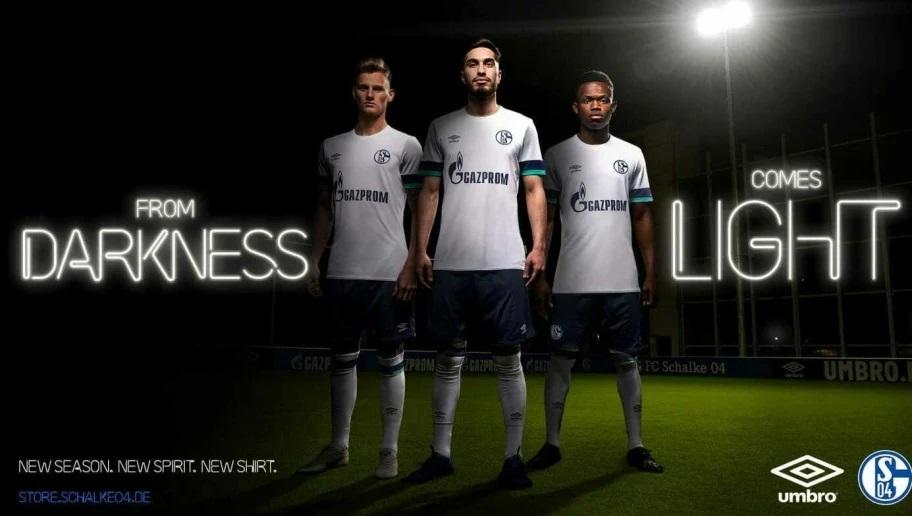 Schalke 2019 2020 maillot foot exterieur blanc