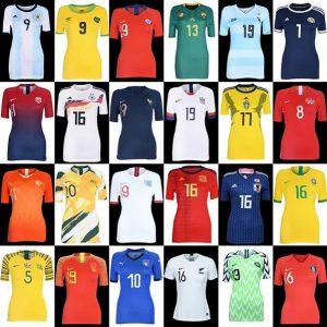 Tous les maillots de foot coupe du monde football feminine 2019