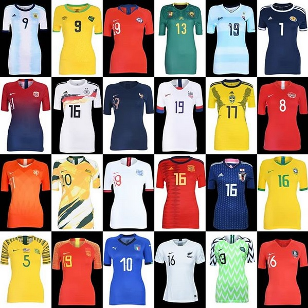 nouveaux maillots de football coupe du monde féminine 2019