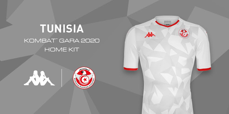 Tunisie 2019 maillot domicile CAN 2019