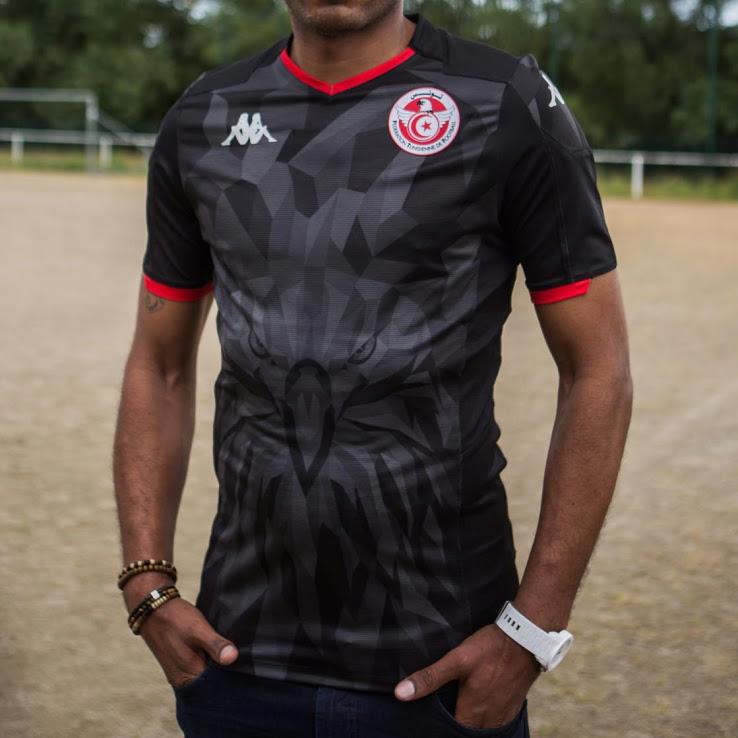 Tunisie CAN 2019 troisieme maillot third foot