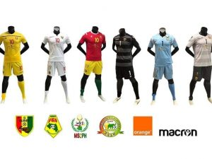 maillot foot Guinee can 2019 macron