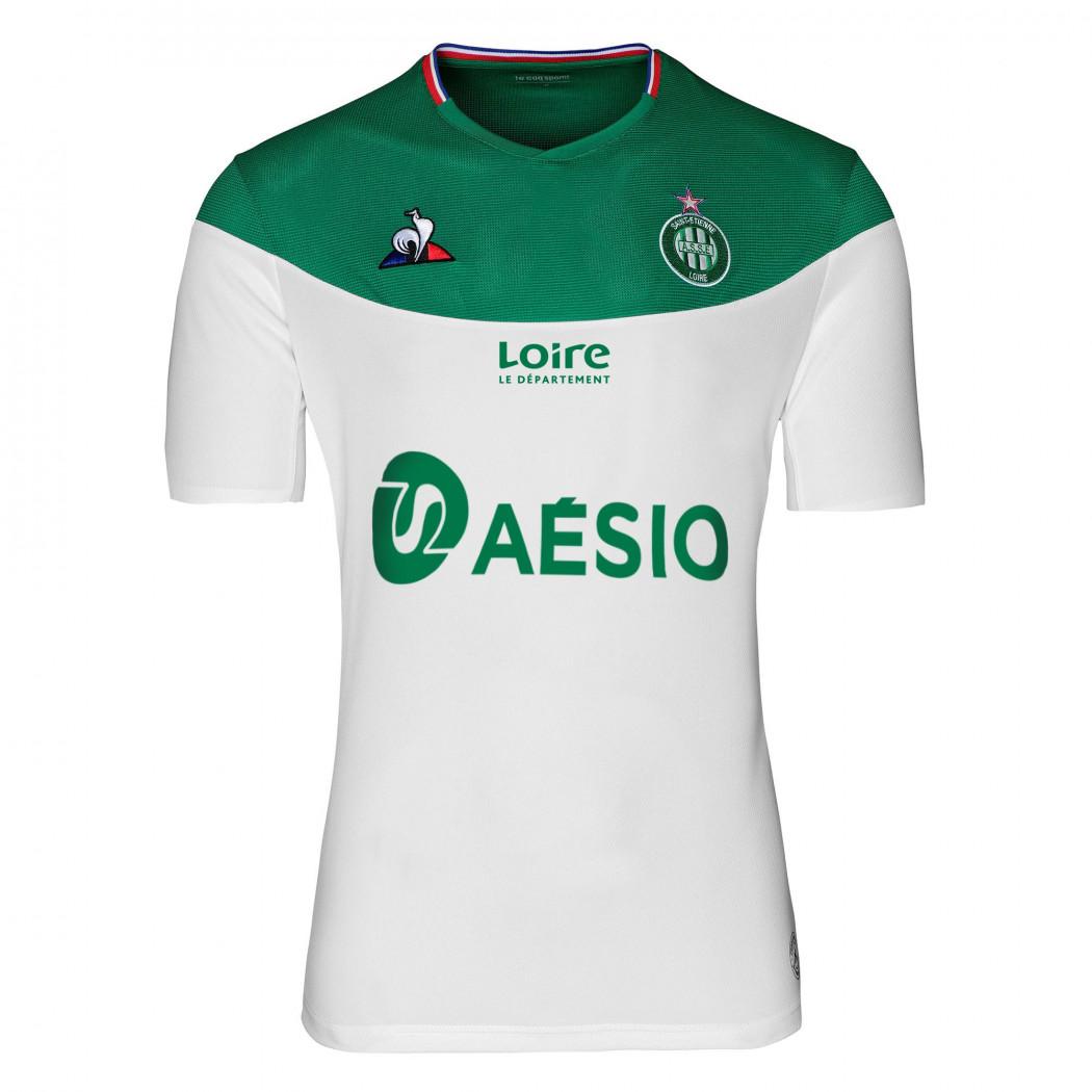 ASSE 2020 maillot exterieur foot blanc coq sportif