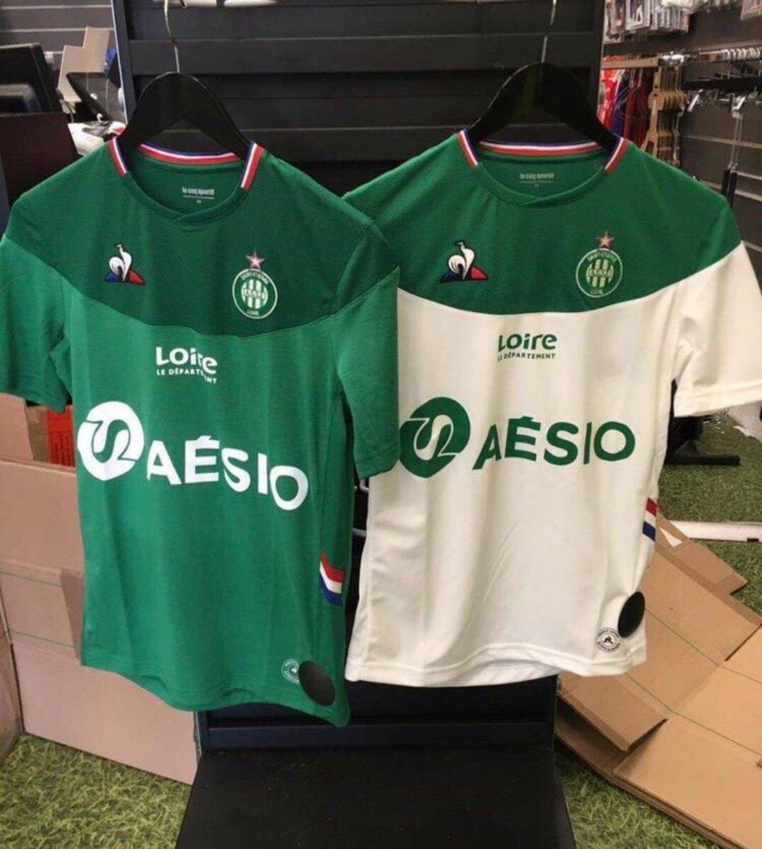 ASSE 2020 maillots de foot coq sportif 19 20 Saint Etienne